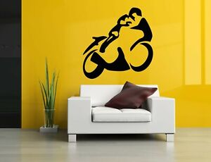 Wall Sticker Motorcycle Bike Race Wheels Boy Room Vinyl Mural Decal Decor ZX1049