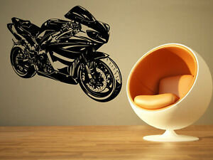Wall Sticker Motorcycle Bike Race Wheels Biker Vinyl Mural Decal Decor ZX1051