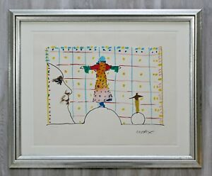 Mid Century Modern Framed Peter Max Pencil Signed Lithograph Quadrillage 106250