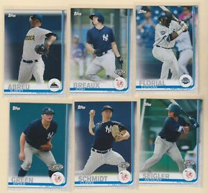 2019 PRO DEBUT Anthony Seigler Estevan Florial Clarke Schmidt Yankees 6 CARD LOT