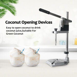 Manual young Coconut hole punch machine Vertical Drill Opener Stainless Steel