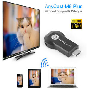 WiFi Display Dongle Receiver 1080P HDMI TV AnyCast M9 Plus DLNA Airplay Miracast