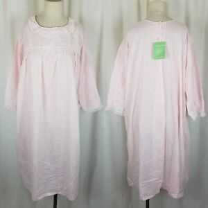 NOS Vintage Prom#x27;N Nod Stevens Wonder Fabric Pink Nightgown Nightie Womens XL