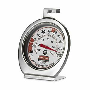 Rubbermaid Stainless Steel Instant Read Refrigerator/Freezer/Cooler Thermometer