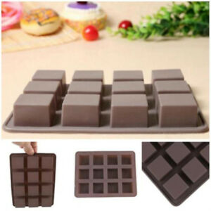 Bar Square Soap Silicone Mold DIY Chocolate Baking Cake Handmade Tool Mould QH
