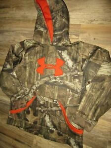 YOUTH HOODIE YOUTH LARGE YLG CAMO HOODIE UNDER ARMOUR H STORM VG CONDITION $15.89