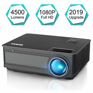 Projector WiMiUS P18 (2019 Upgraded) 4200 Lumens LED 1080P 200