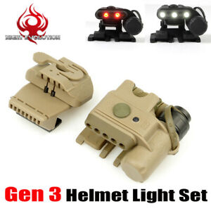 Airsoft Gen 3 Led Helmet Light Tactical Hunting Flashlight Huntin Lamp Wargame