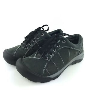 KEEN Toyah Womens Size 8 Black Leather Casual Hiking Shoes Lace Up