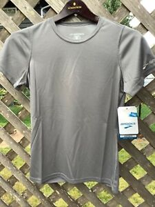 New with Tags Brooks Size S Women's Tee Shirt Short Sleeve Running Active Gray