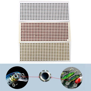 500PCS 3-6mm Fish Eyes 3D Holographic Lure Eyes Fly Tying Jigs Crafts Dolls-v BR