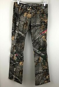 NWT Womens UNDER ARMOUR Fitted UA HUNT Camo Hunting Pants Size 4 Scent Control