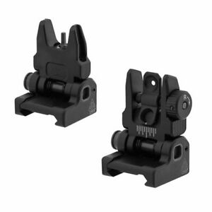 UTG Accu-Sync Flip Up SPRING Loaded Iron Sights Set Picatinny Mount NEW