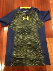 Under Armour Boys Size Small Blue Shirt
