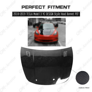 PCF YC DESIGN Style Hood Bonnet Cover Kit For 2018-2019 TESLA Model 3