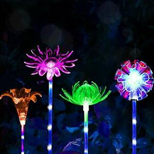 4 Pack Garden Solar Lights Outdoor Waterproof Decorative Stake Camping Changing