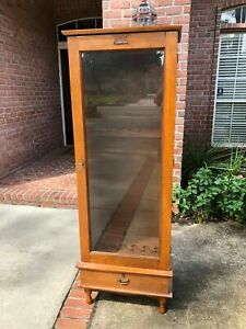 Gun Cabinet Antique Glass Door wLock