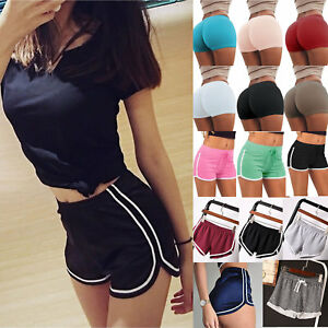 Women Gym Yoga Running Shorts Ladies Sports Runner Compression Hot Pants Bottoms