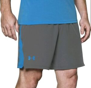 "NWT $45 Under Armour 8"" Training Cage Shorts Men's GREY 1304127-040 Size 2XL"