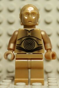 LEGO Genuine Star Wars C-3PO Pearl Gold From Set 10144 10188 Minifig Minifigure