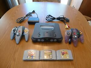Nintendo 64 w 2 controllers expansion pak Zelda Mario - Tested and Working