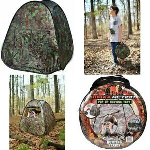 Pop Up Hunting Tent Ground Blind Children Kids Toy Camouflage Outdoor Play Hut