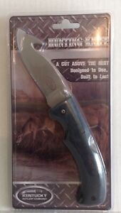 Kentucky Cutlery Folding Hunting Knife With Gut Hook And Case New Model 70912