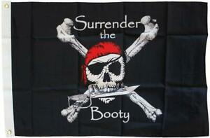 Surrender the Booty Pirate Flag 12