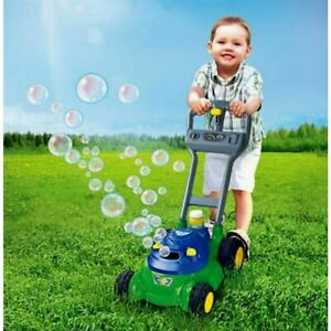 Play Day Push Lawn Bubble Mower Toy Kids Machine Soap Bubbles Outdoor Yard Green $44.99