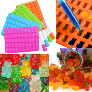 50 Cavity Silicone Gummy Bear Chocolate Mold Candy Maker Ice Jelly Moulds HY