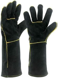 Welding Gloves 16 Inch Heat Resistant Unibody Cow Split Leather BBQ Cooking $13.99