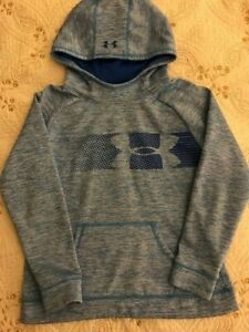 UNDER ARMOUR Storm Hoodie Sweatshirt Loose Fit Youth Girls Size L Blue