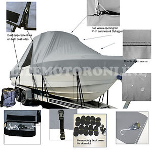 Bluewater Offshore 2850 CC Center Console T-Top Hard-Top Bay Fishing Boat Cover