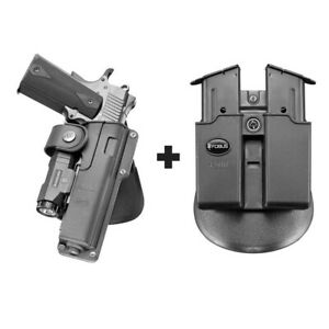 Fobus EMC Paddle Tactical Holster Browning Hi-Power + 4500 Double Magazine Pouch