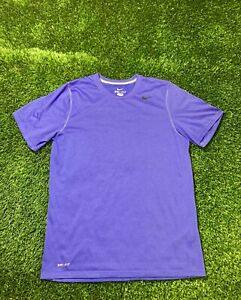 Nike Dri-Fit Men's Short Sleeve Running Workout Shirt Purple Size M