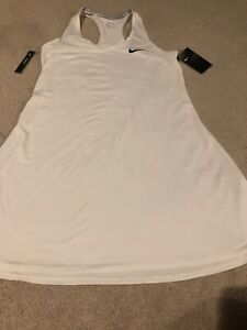 NWT Nike Women's Court Pure Dress Sleeveless Tennis Dress Size Medium White