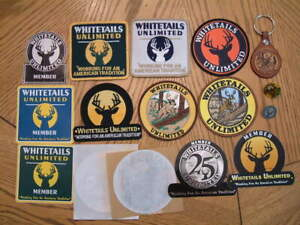 16 Whitetails Unlimited Deer Hunting Association Member Patches Pins Stickers