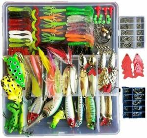 275pcs Freshwater Artificial Bait Fishing Lures Kit Tackle Box With Included For