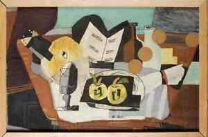 EARLY CUBIST HIDDEN DURING WORLD WAR II -   LARGE 30