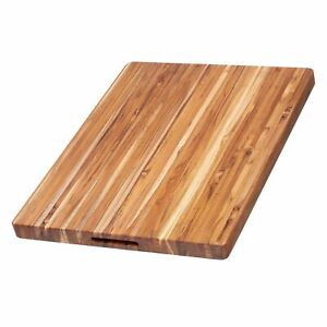 Teakhaus by Proteak Edge Grain Carving Board w/Hand Grip (Rectangle)   24