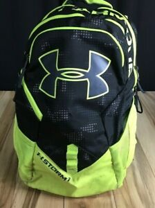 Under Armour STORM backpack yellow and black large 19x12x6
