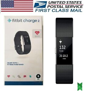 Fitbit Charge 2 Heart Rate Monitor Fitnes Activity Tracker Small Black FB407SBKS