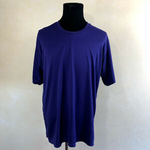 NIKE Men's Dri Fit Short Sleeve Royal Purple Workout Shirt Size XL