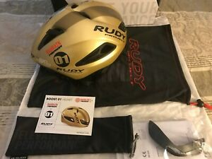 Rudy Project Boost 01 Gold Size SM With Sun Shield