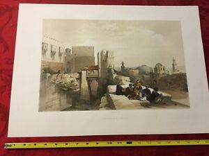 David Roberts Lithograph (Original!) The Citadel of Jerusalem