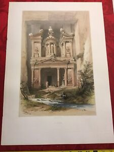 David Roberts  COLORED Lithograph ICONIC IMAGE (Original!) EL KASNE