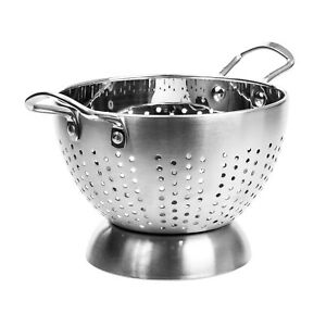 High Quality Stainless Steel Deep Colander Strainer With Handle 5 Quart