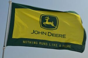John Deere 3x5FT Flag Banner Tractor Farm Country Land Agriculture Advertising