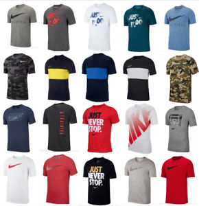 Nike T Shirts Mens Small to 2XL Authentic Dri Fit Short Sleeve Crew Neck Tees $21.99