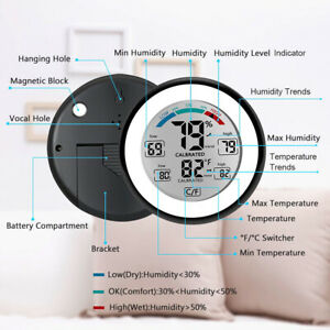 Temperature Humidity Meter LCD Digital Touch Screen Thermometer Hygrometer NEW